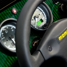 Detail of the dashboard of the special edition