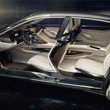 The interior of the Vision Future Luxury has a large conceptual component