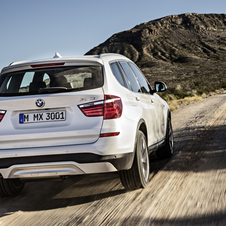 The new X3 receives an updated range of turbodiesel engines