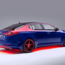 The rear of the car is red in inspiration of Superman's cape