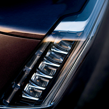 Cadillac appears to be taking the vertical route for the headlights on the Escalade