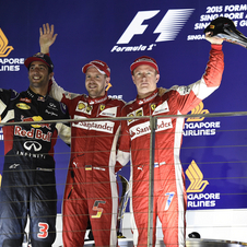 Vettel conquers third win for Ferrari