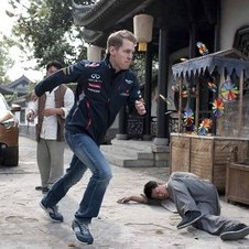 Vettel doing some Kung Fu