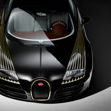Some of the special edition body components have been coated in 24-carat gold, like the frame of the horseshoe grille