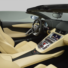 Interior do Lamborghini Aventador Roadster