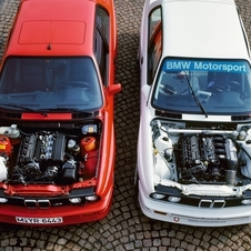 Here a street M3 (left) poses with the racing version (right)