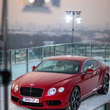 New Bentley Continental V8 Helicoptered into Munich