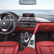 It is offered with the eye-catched red leather interior