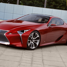 The Lexus LF-LC was first shown at the North American International Auto Show earlier this year