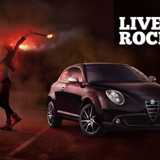 The refreshed MiTo gets advertised in the new Live Rock advertising campaign