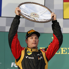 It is Raikkonen first win since returning to F1