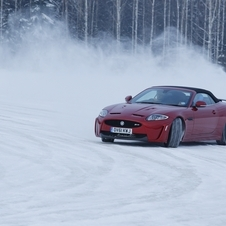 Jaguar XKR-S Takes a Drive Through the Finnish Snow