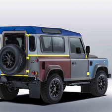 In all the Defender created by Paul Smith has exterior panels in 27 different colors