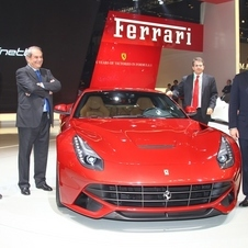 Ferrari executives were on hand in China to pose with the car