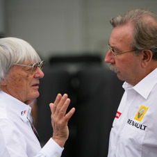 Bernie Ecclestone also signed as CEO of the Formula 1 Group, which owns the series