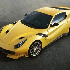 While maintaining the same V12 6.3 liters engine of the standard F12berlinetta, the output was increased to 780hp