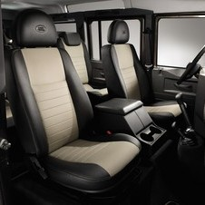 The interior offers leather in Ebony or Almond