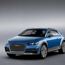 The front blends the Audi TT and Q SUVs