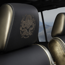 There are also dragons embroidered on the headrests