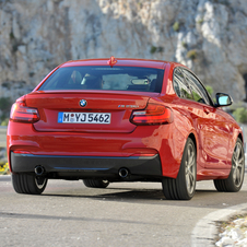 The M235i version gets an optional limited slip differential