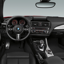 The interior is shared with the 1 Series
