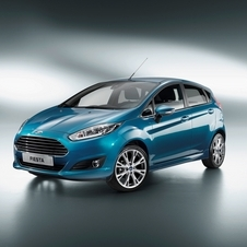 The revised Fiesta has the nose from the new Mondeo/Fusion