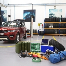 The truck is a production specification Range Rover Sport