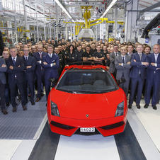 Lamborghini built the final Gallardo on November 25