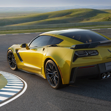 The fenders of the Corvette have been widened to accept the larger wheels