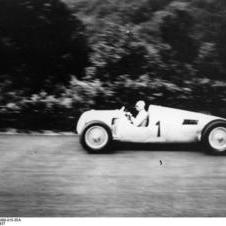Bernd Rosemeyer at the Nürburgring, 1937