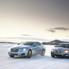 Jaguar tested the cars in the arctic circle