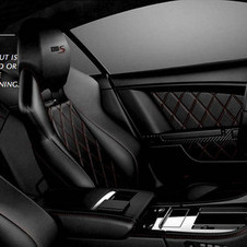 Inside the car has diamond-quilted leather seats and a diamond-effect Alcantara headliner