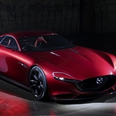The RX-Vision is Mazda's vision of the design of a range-topping sports car with rotary engine
