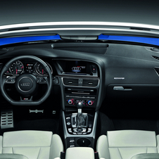 The interior is identical to the standard RS5