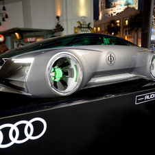 Audi made a 1:4 scale model for the premiere
