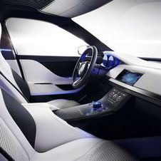 The interior also shows next generation technology
