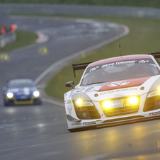 The #26 Mamerow Racing Audi R8 LMS is driven by Christian Mamerow, Christian Abt, Michael Ammermuller and Armin Hahne