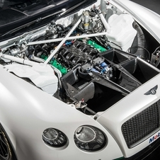 The engine is the same twin-turbo V8 as in the production car