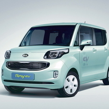 The powertrain is reportedly an updated version from the Ray EV