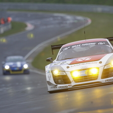 The Team Mamerow Racing Audi was second