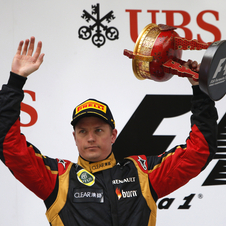 Kimi Raikkonen is just four points away from leading the championship