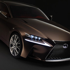 Lexus says that the design takes from the LF-CC and LFA