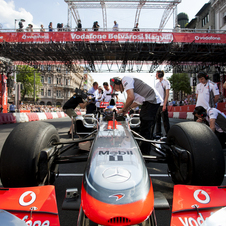 The MP4-27 During a Promotional Event in Hungary