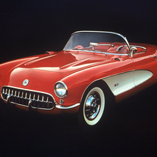 For 1956, the Corvette got a styling revision, handles and roll-up windows