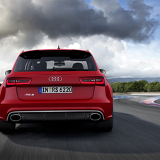The RS6 gets a rear diffuser and rear spoiler