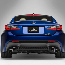 The RC F has much wider fenders to fit the wider wheels and tires