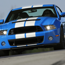 The GT500's supercharged, 5.8l V8 produces 662hp