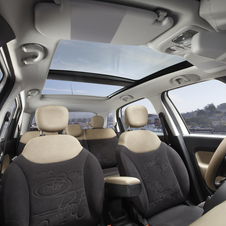 A huge dual-pane sunroof is also available
