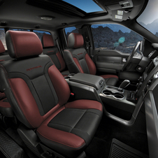 The interior gets upgraded seats and polished aluminum trim