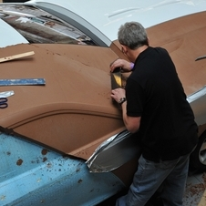 Jaguar has master artisans who sculpt the clay